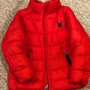 Spider puffer jacket